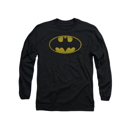 Washed Bat Logo Mens Long Sleeve