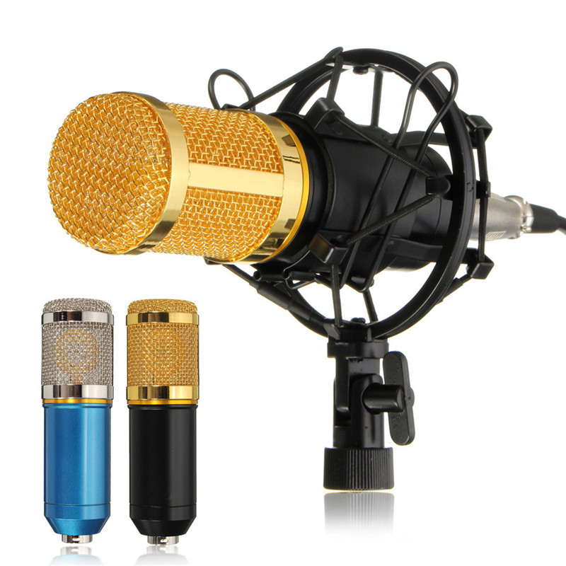 ELEGIANT BM-800 Condenser Studio Recording Microphone with Shock Mount Holder, Audio cable, BOP cover,Blue color