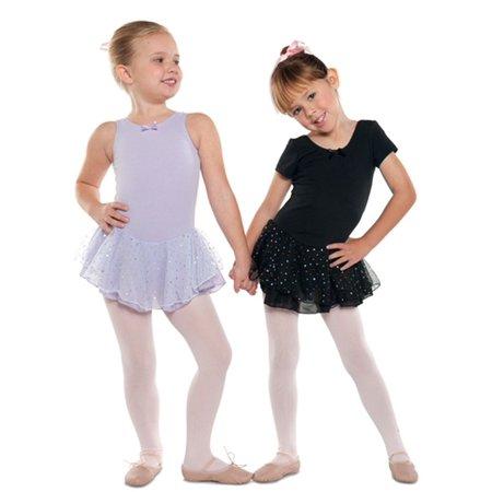 Danshuz Little Girl Black Short Sleeve Skirt Ballet Leotard Size 2-14 (Dance Leotard 4t)