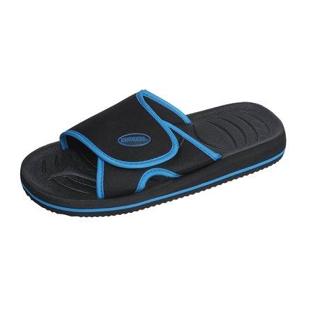 Mens Comfort Shower and Beach Adjustable Flip Flop Slide Sandal