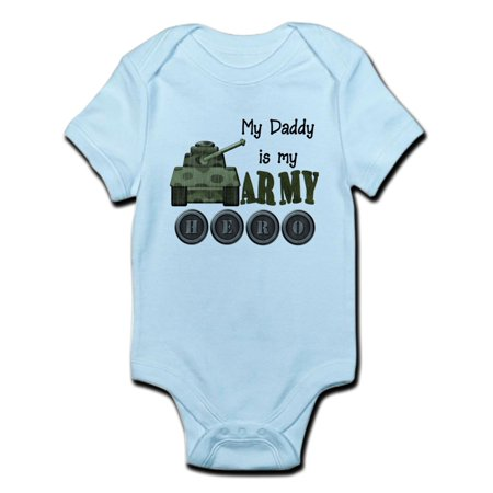 7d223799 CafePress - CafePress - My Daddy Is Army Hero Infant Bodysuit - Baby Light  Bodysuit - Walmart.com