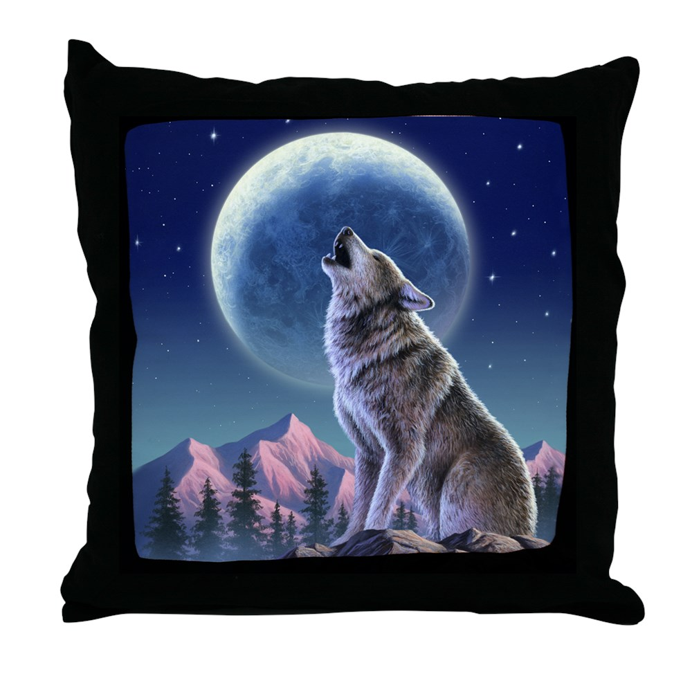 "CafePress Howling Wolf 1 Decor Throw Pillow (18""x18"") by"