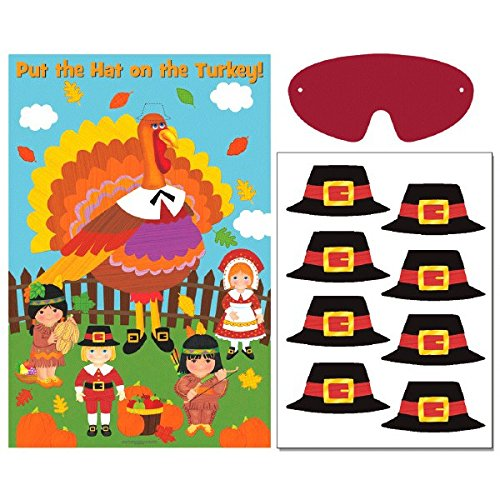 Amscan Festive Fall Thanksgiving Party Game Activities, Multicolor
