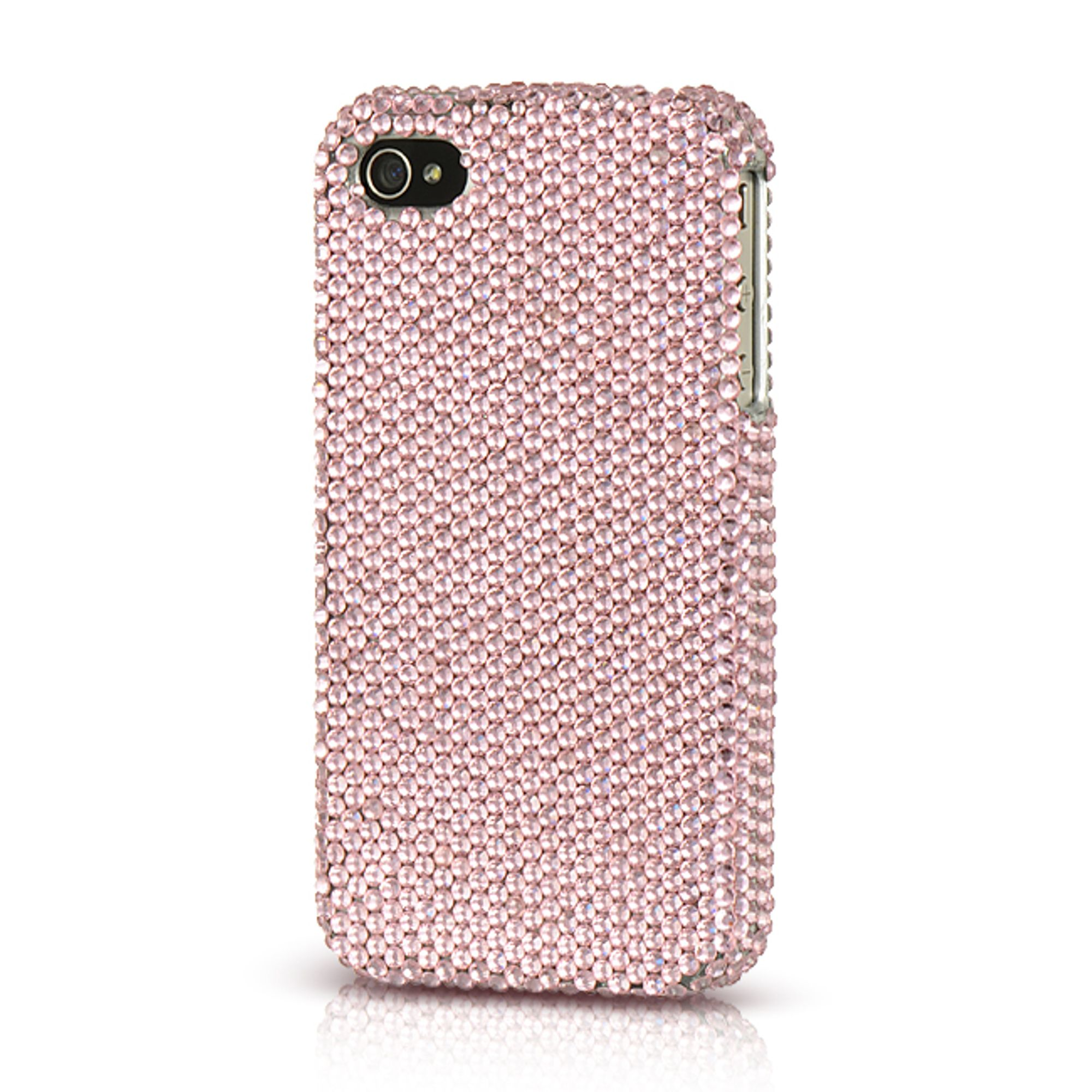 Insten Platinum Endless Sparkles Series Hard Skin Back Rear Case For Apple iPhone 4 / 4S - Pink
