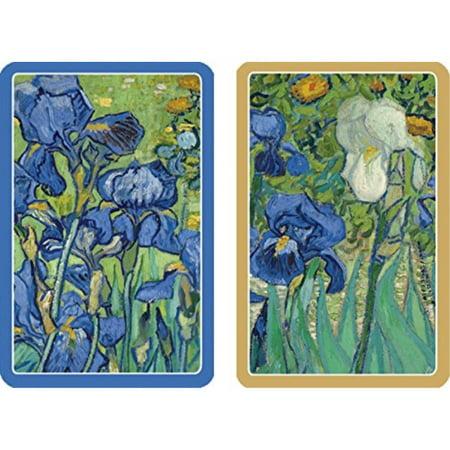 Caspari PC131 Van Gogh Irises Bridge Playing Cards, Two Deck of Standard Type,