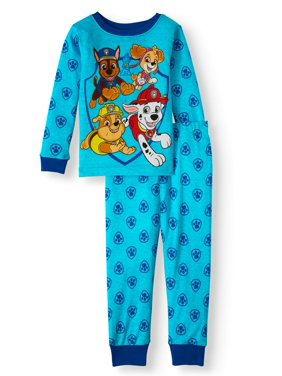 Paw Patrol Toddler Boy Long Sleeve Cotton Snug Fit Pajamas, 2Pc Set