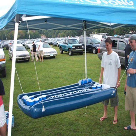 Inflatable Beer Pong Raft Table Blue Pool Surface