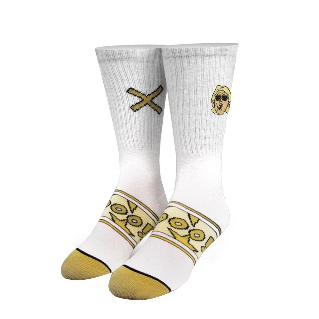 Odd Sox Men's WWE Ric Flair Jet Flyin Crew Socks