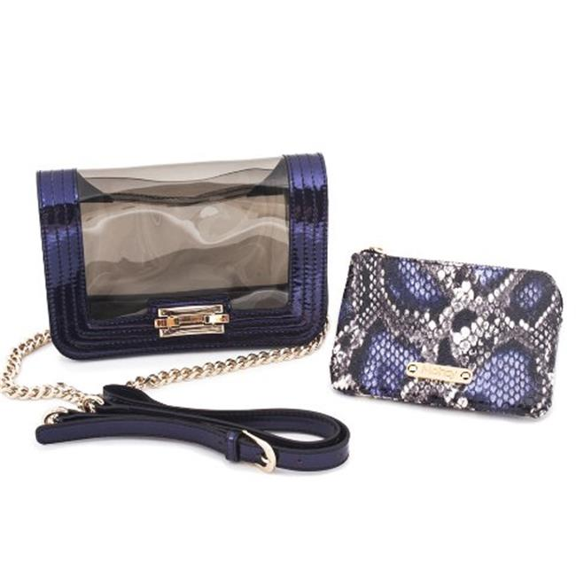 Mohzy F0029F13-1-Blue Hellofame - Tyra Mini Tech Bag
