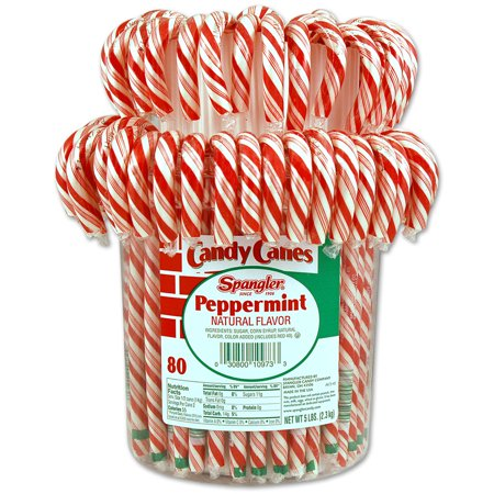 Peppermint Candy Canes 1-80 count jar