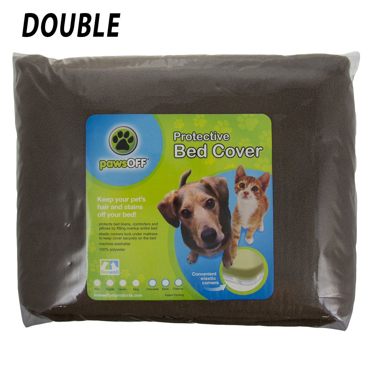 Paws Off Protective Fleece Bed Mattress Cover Pet Dog Cat Hair Twin Double Queen