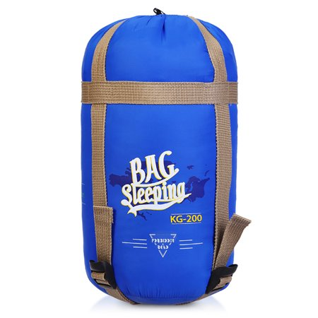 Forbidden Road Portable Sleeping Bag Single 15℃/ 60℉ 380T Nylon (Light Blue) ()