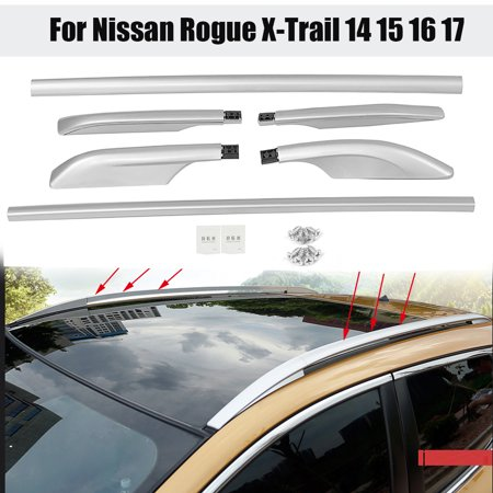 Aluminum Roof Rack Side Rails Luggage Trim For Nissan Car Roof Bars Rogue X-Trail 2014 -2017 thumbnail