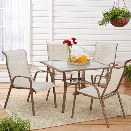 Mainstays Mirabell 5-Piece Sling Outdoor Dining Set ()