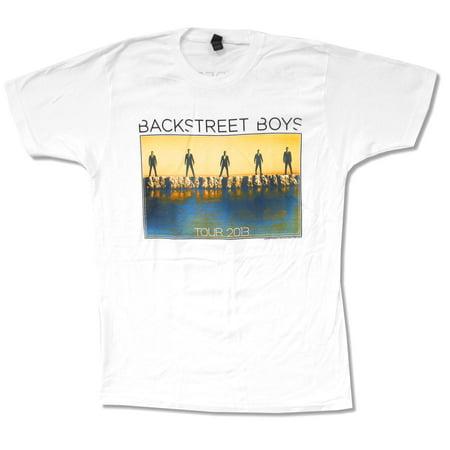 White Teen Boy (Backstreet Boys Sunset 2013 Tour White T Shirt)