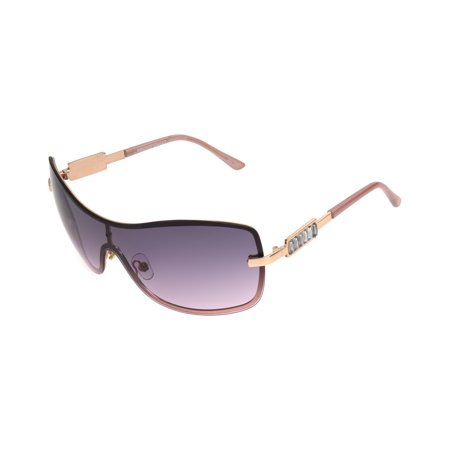 Foster Grant Women's Rose Gold Mirrored Shield Sunglasses (Foster Grant Sunglasses For Women)
