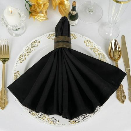 Efavormart Wholesale 10 Premium Washable Napkins Great for Wedding Party Restaurant Dinner Parties Holiday Dinner & More - Holiday Dinner Napkins