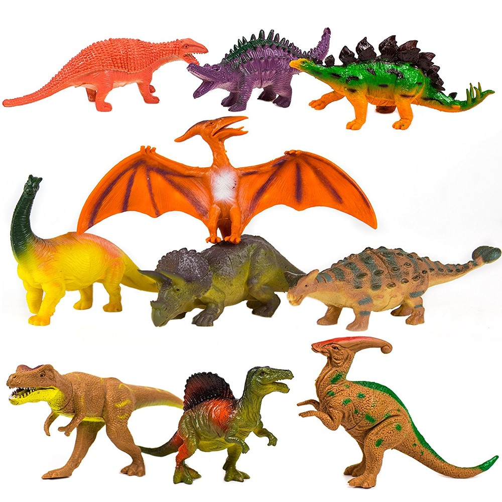 """""""Toysery Realistic Looking Dinosaurs Toys Set for kids - Plastic Assorted Dinosaur Toys Figures - Pack of 10pcs, 5-Inches"""""""""""""""