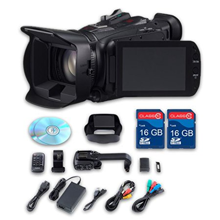 Canon XA25 HD Professional Camcorder + 2 PC 16 GB Memory Cards + All Manufacturer Accessories - International Version Gigabyte Pc Card Memory