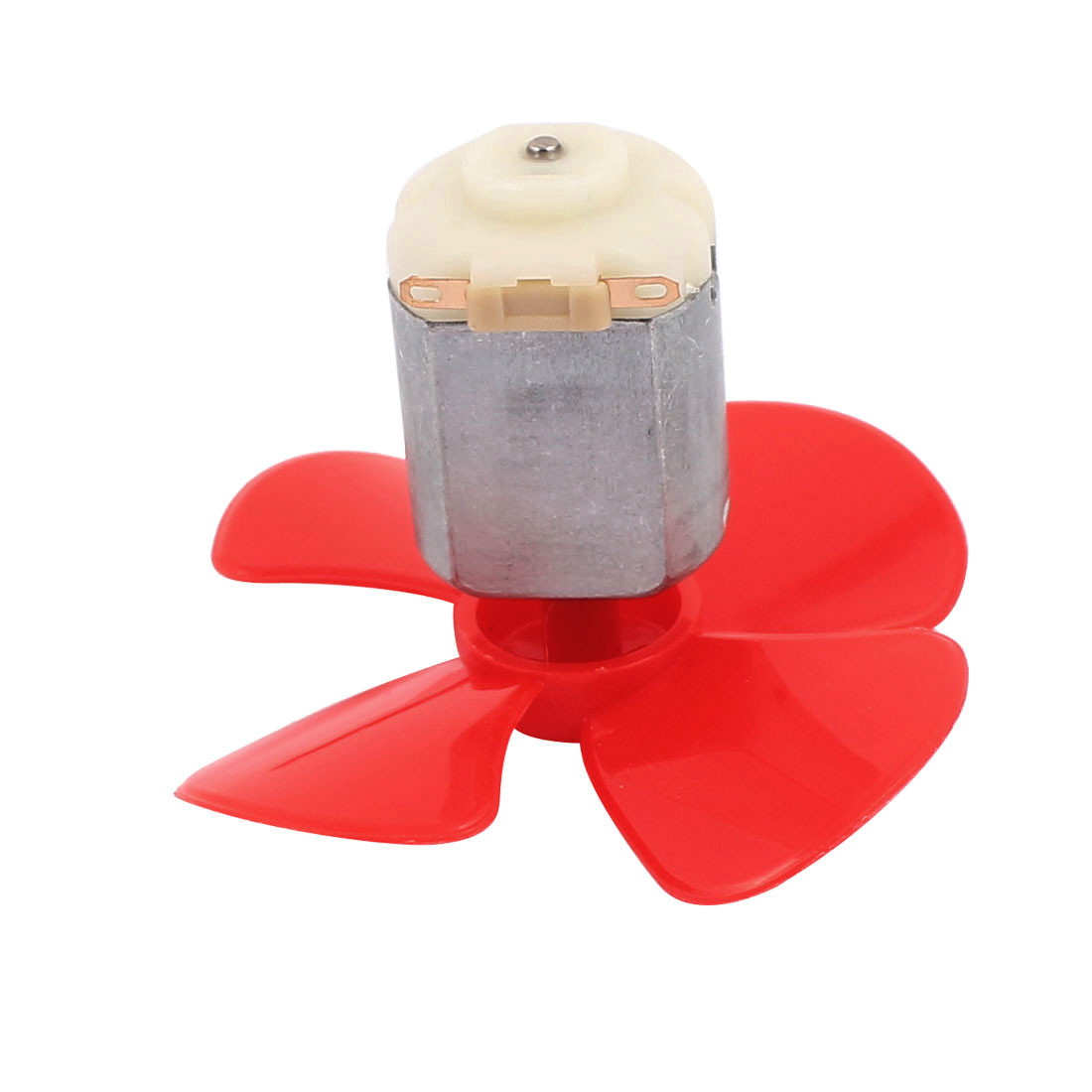 2Pcs DC12V 0.04A 14000RPM Aircraft Model Motor 4-vane Propeller 56mmx2mm - image 1 of 5
