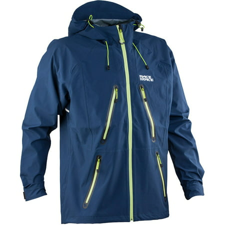 Mens Race Jacket - Race Face AGENT SOFTSHELL JACKET NAVY S