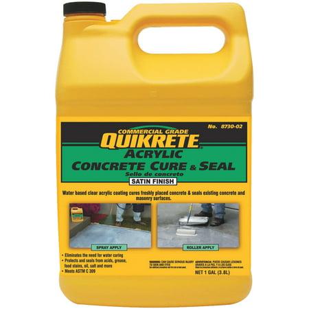 Quikrete Concrete Cure And Seal Satin Finish Concrete