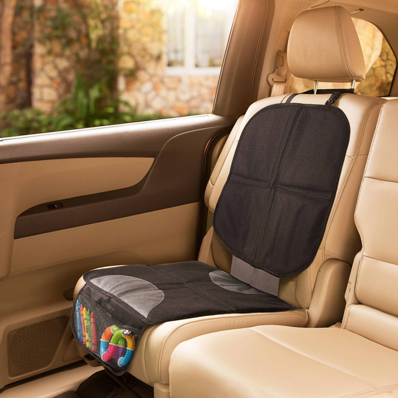 S tech automotive Front Seat Covers//Protectors 1+1 Heavy Duty Water Resistant Black