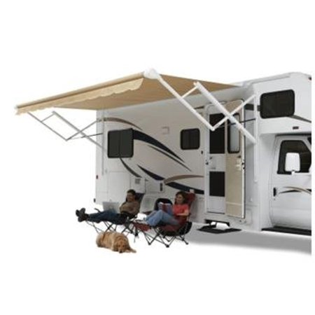 Carefree QJ198D00 Eclipse/Travelr Springless Patio Awning Black-Gray