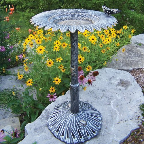 Oakland Living Butterfly Sunflower Birdbath