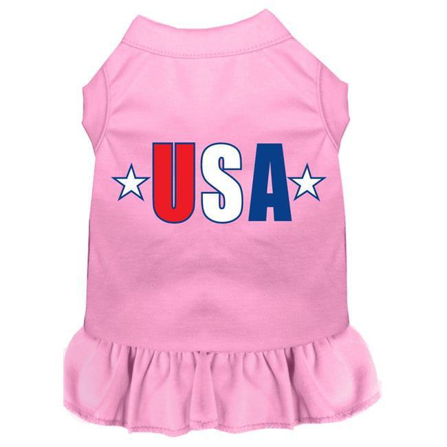 Usa Star Screen Print Dress Light Pink Xxl (18) - image 1 de 1