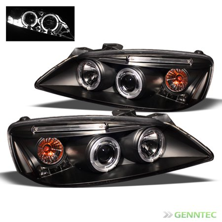 2005 2009 Pontiac G6 Twin Halo Led Projector Headlights Black Head Lights Pair Left Right 2006 2007 2008