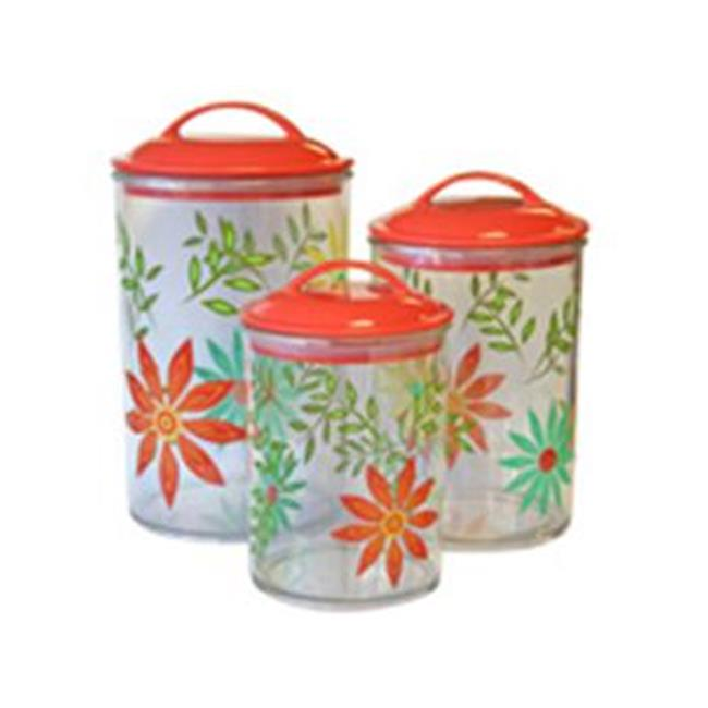 Reston Lloyd Happy Days3Pc. Acrylic Canister SetCorelle