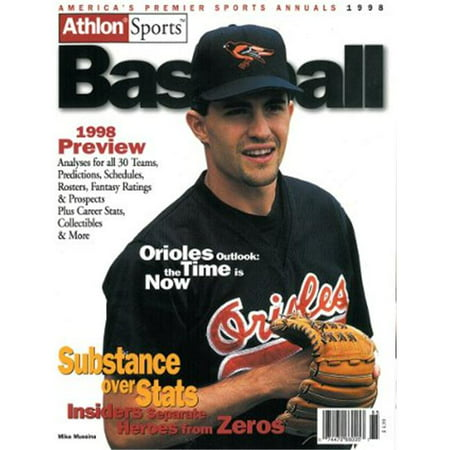 Athlon Ctbl 013286 Mike Mussina Unsigned Baltimore Orioles Sports 1998 Mlb Baseball Preview Magazine
