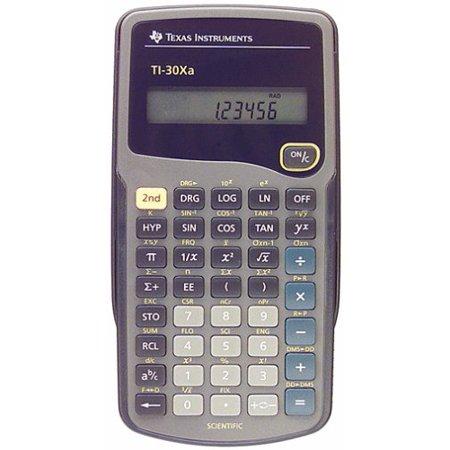 Texas Instruments Ti 30Xa Student Scientific Calculator   10 Character S    Battery Powered   6  X 3 1  X 0 8    Black  Ti30xa