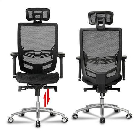Yaheetech High Back Mesh Office Chair Ergonomic Computer Desk Chair Seat Height Headrest Armrest Angle Of Backrest Adjustbale With Tilt Tension