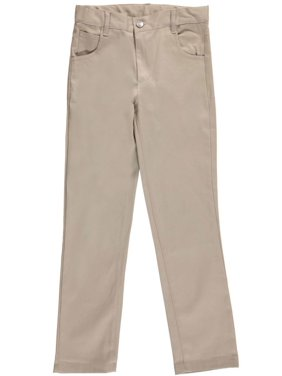 "Denice Stretch Big Girls' ""Jean Pocket"" Skinny Uniform Pants (Sizes 7 - 16)"