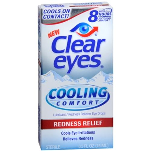 Clear Eyes Cooling Comfort Redness Relief Eye Drops 0.50 oz (Pack of 2)
