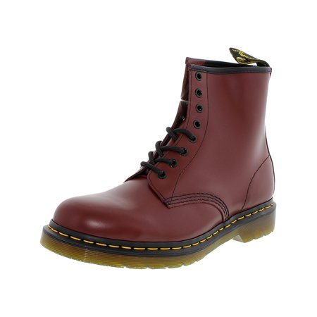 Dr. Martens Men's 1460 8-Eye Smooth Cherry Red Ankle-High Leather Boot - 11M - Kids Red Dr Martens