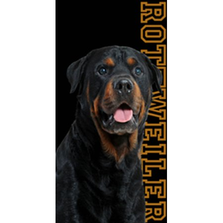Beach Towel 30X60 Rottweiler Dog Man's Best (Best Friends At The Beach)