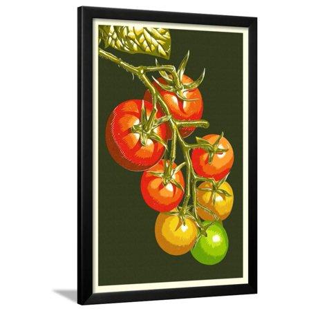 Tomato Press - Tomatoes Framed Print Wall Art By Lantern Press
