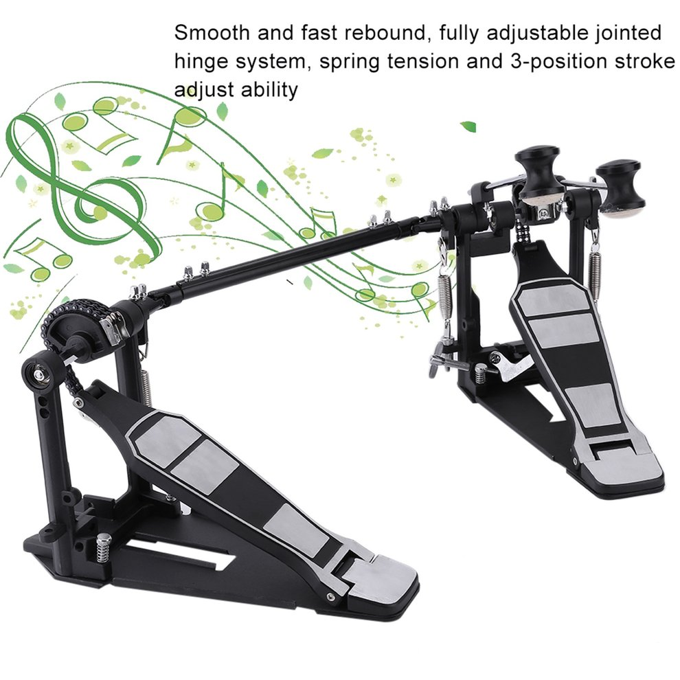Bass Drum Pedal Beater Singer Tension Spring and Single Chain Drive Percussion Instrument... by LESHP