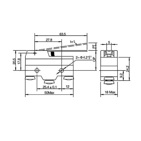 XURUI Authorized 5Pcs XZ-15GW-B Long Hinge Lever Microswitch Screw Terminal - image 4 of 5