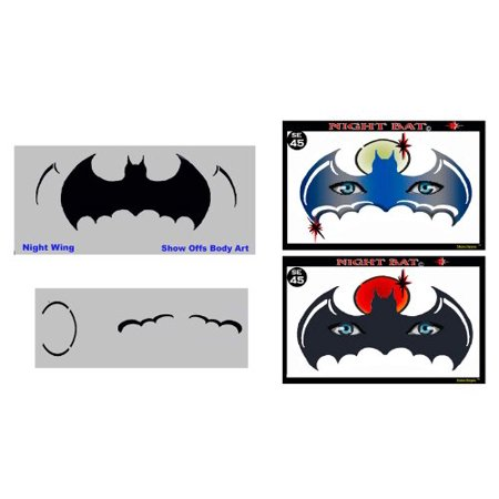 Face Painting Stencil - StencilEyes Night Bat - Batman Mask, The original face painting stencils - Made in the USA By ShowOffs Body Art Ship from US - Batman Stencil