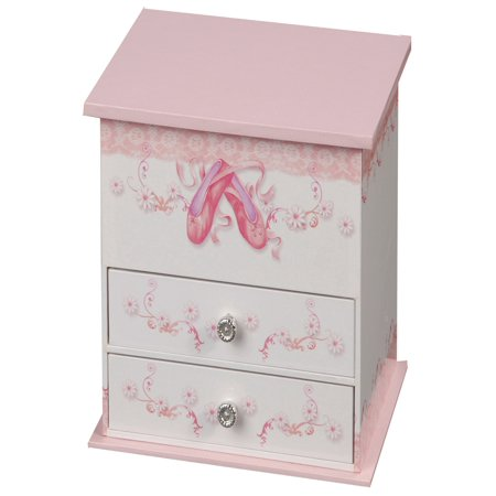 Mele & Co. Angel Musical Dancing Ballerina Jewelry Box - 7W x 6.3H in. Angel Musical Music Box