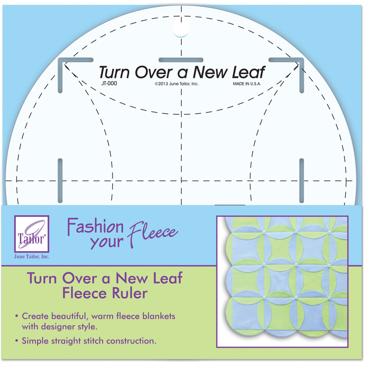 "Turn Over A New Leaf Ruler-8"" Round"
