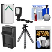 Essentials Bundle for Sony Handycam HDR-CX405, CX440 & PJ440 Camcorders with LED Light + NP-BX1 Battery & Charger + Flex Tripod Kit
