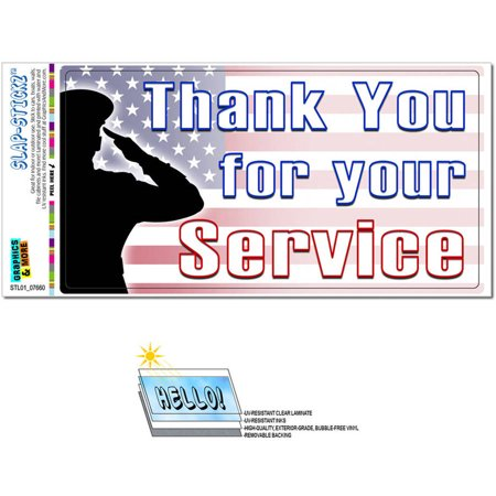 Thank You for Your Service USA Military Troops United States Marine Corps Navy Air Force Army Automotive Car Window Locker Bumper Sticker ()