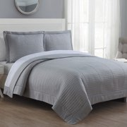 American Home Fashion Grid Reversible Quilt Set