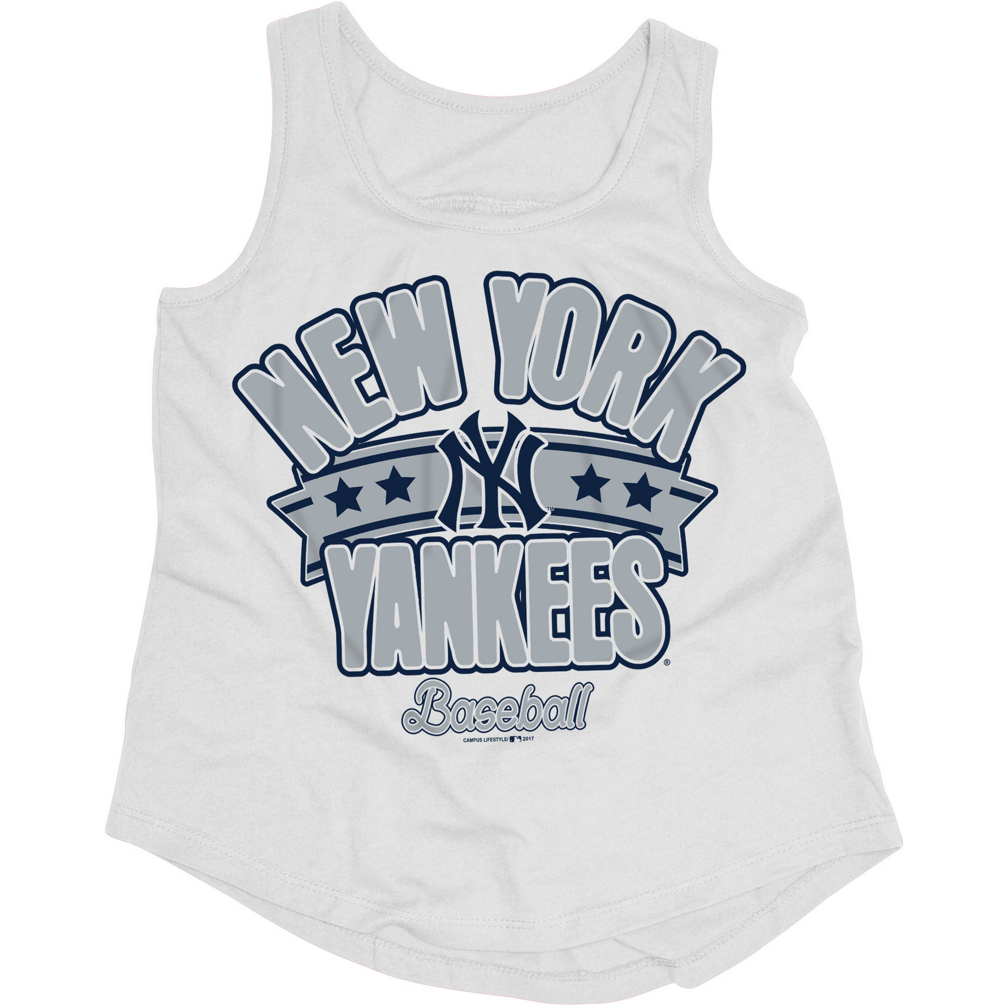 MLB New York Yankees Girls Short Sleeve Team Color Graphic Tee