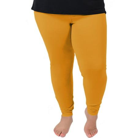 0403d86676a159 Stretch Is Comfort - Women's Plus Size Cotton Leggings - 2X (16-18 ...